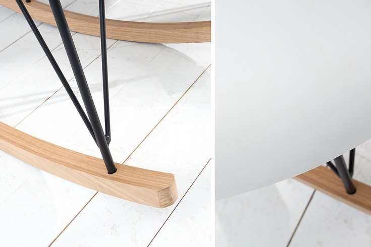 moderner xxl design schaukelstuhl floating wei eiche. Black Bedroom Furniture Sets. Home Design Ideas