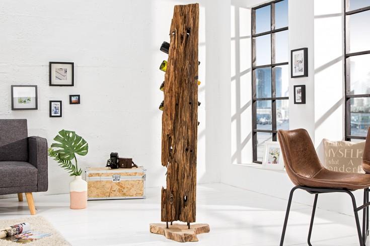massives weinregal barracuda antik teak holz 140cm wein flaschenhalter natur riess. Black Bedroom Furniture Sets. Home Design Ideas