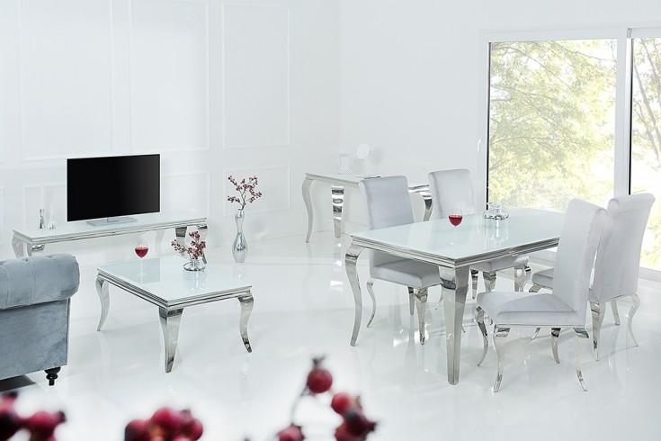 Stylischer design stuhl modern barock grau stuhlbeine aus