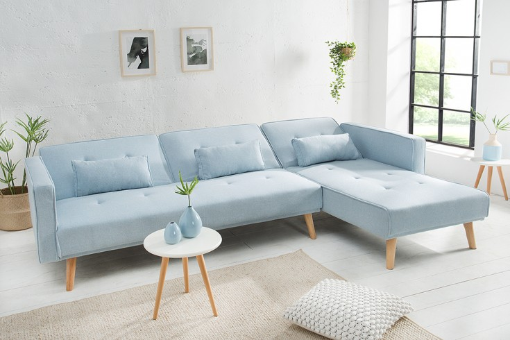 modernes ecksofa nordic 265cm pastellblau scandinavian. Black Bedroom Furniture Sets. Home Design Ideas