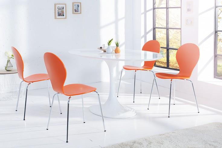 Design stuhl form designklassiker aus hochwertigem for Design stuhl orange
