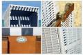 XL Strandkorb Premium Gartenliege 2 - 3 Personen NORDSEE blau weiss 2 Designs