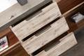 Design Sideboard INDUSTRIAL 180cm Akazie teakgrau gekälkt