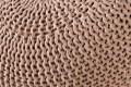 Design Strick Pouf LEEDS coffee 50cm Hocker Baumwolle in Handarbeit