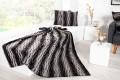 Edles Design Wildfell TIBET 150x200cm schwarz/braun Plaid Decke in Wildfell-Optik