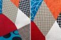 Stuhl SCANDINAVIA MEISTERSTÜCK Massivholzbeine Patchwork Muster im Retro Trend