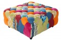 Design Chesterfield Hocker Patchwork bunt