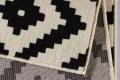 Ethno Design Teppich DEKOR 160x230 cm mit Rautenmuster Schwarz Creme