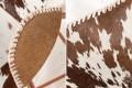 Design Sessel BUTTERFLY Echtfell braun weiß Kupfergestell