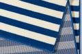 Dekorativer Design Teppich MARITIM 160x230cm Paneeloptik Blau Creme