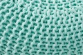 Design Strick Pouf LEEDS mint 50cm Hocker Baumwolle in Handarbeit