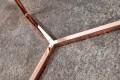 Design Beistelltisch Original ASTRO 50 cm kupfer schwarz Couchtisch