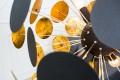 Design Stehleuchte INFINITY 170 cm schwarz gold