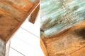 Massiver Couchtisch JAKARTA 70cm aus recycelten Fischerbooten Massivholz