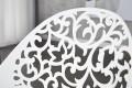 Kunstvoller Design Stapelstuhl FLORA weiss Esszimmerstuhl