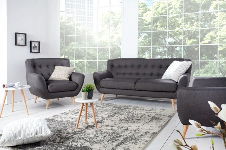 retro designklassiker sessel scandinavia meisterst ck anthrazit riess. Black Bedroom Furniture Sets. Home Design Ideas