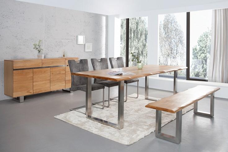 massive baumstamm bank genesis 180cm eiche massivholz. Black Bedroom Furniture Sets. Home Design Ideas