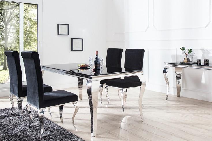 Monumentaler Esstisch Modern Barock Silber 180 Cm Tischbeine Aus ... Esstisch Barock Modern