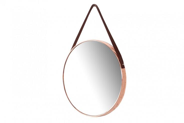 gro er runder design spiegel portrait 45 cm kupfer braun. Black Bedroom Furniture Sets. Home Design Ideas