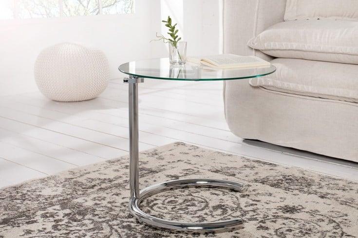 art deco beistelltisch effect 50 70 cm chrom glas. Black Bedroom Furniture Sets. Home Design Ideas