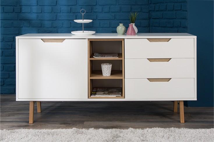 design sideboard nordic 150cm edelmatt wei echt eiche anrichte riess. Black Bedroom Furniture Sets. Home Design Ideas