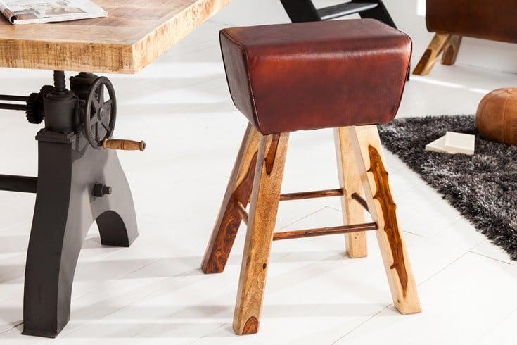 Design barhocker turnbock mit echtleder bezug kult for Barhocker bezug