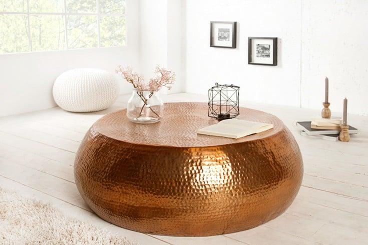 design couchtisch orient 80cm aluminium metall legierung. Black Bedroom Furniture Sets. Home Design Ideas