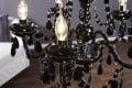 Kronleuchter schwarz mit 5 Armen - Königlicher Lüster