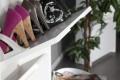 Design Schuhschrank SUPREME hochglanz weiss 3 Klappen Schuhkipper