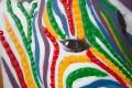 Hochwertiges handgemaltes Ölgemälde MOTHER IN LOVE Bild auf Keilrahmen und Canvas Leinengewebe 75x100 cm Zebras