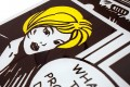 Stylischer Couchtisch POP ART Retro Comic 105cm