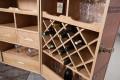 Design Weinschrank Bar Truhe GLOBETROTTER Coffee recyceltes Leder