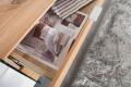 Design Sideboard  ONYX weiss hochglanz Glas Eiche 160cm