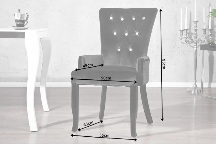 Design stuhl boutique mit armlehne samt schwarz mit for Design stuhl mit armlehne