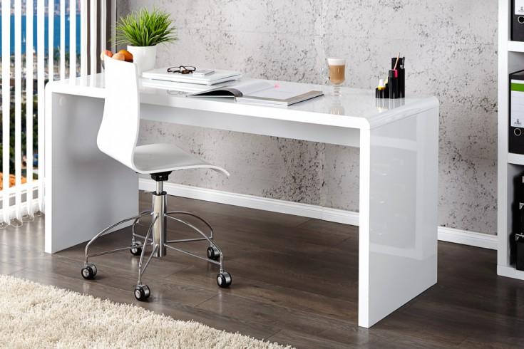 Design Schreibtisch Fast Trade Hochglanz Wei 223 120cm