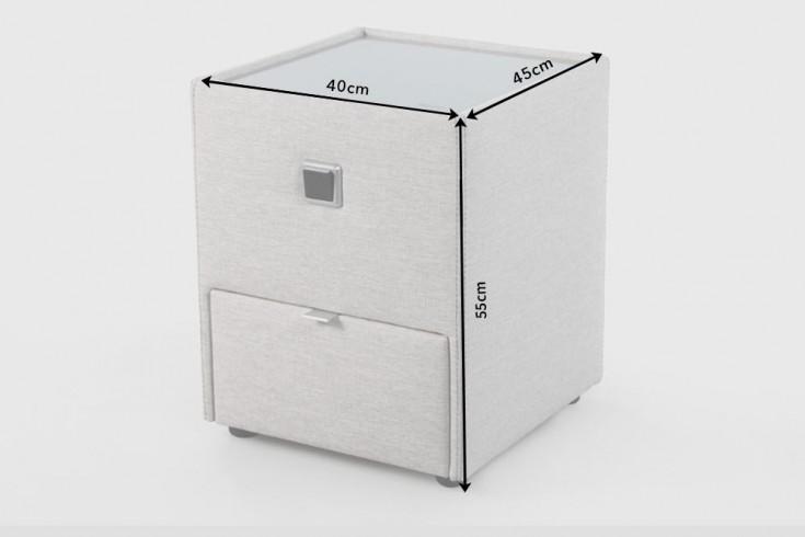 design nachtkommode chalet f r boxspringbetten beige mit. Black Bedroom Furniture Sets. Home Design Ideas