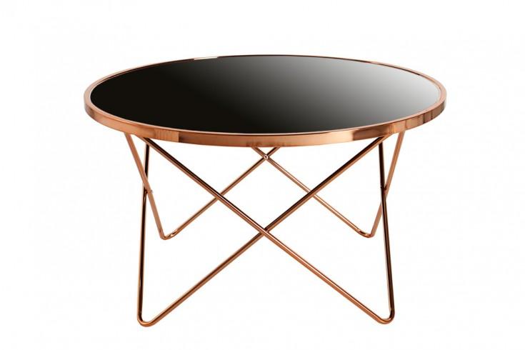 Stylischer Design Couchtisch ORBIT 85cm Kupfer Schwarz