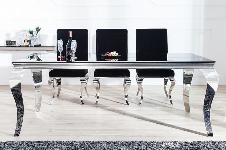 monumentaler esstisch modern barock silber 180 cm tischbeine aus, Innenarchitektur ideen