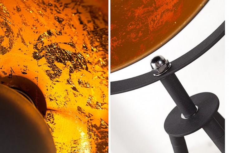 moderne design stehlampe studio 140cm schwarz blattgold optik riess. Black Bedroom Furniture Sets. Home Design Ideas