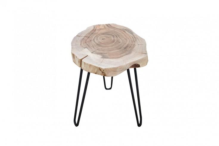Design beistelltisch goa hocker baumstamm scheibe akazie for Design couchtisch goa 115 cm baumstammscheiben akazie 4 cm tischplatte