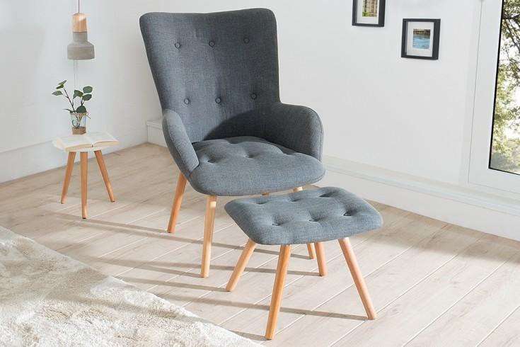 sessel retro mit hocker williamflooring. Black Bedroom Furniture Sets. Home Design Ideas