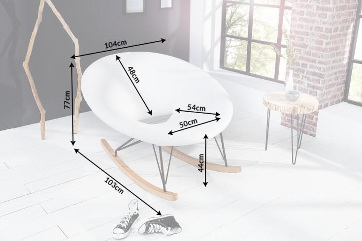 Moderner xxl design schaukelstuhl floating wei eiche for Schaukelstuhl skandinavisch