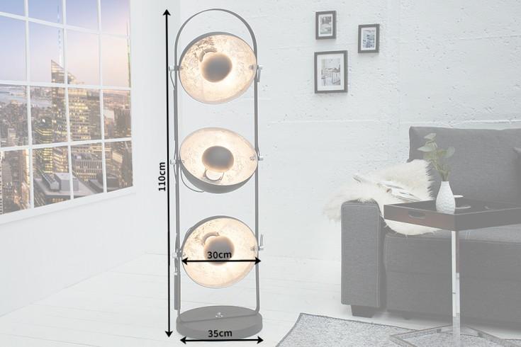 design stehlampe studio 3 lampenschirme schwarz silber. Black Bedroom Furniture Sets. Home Design Ideas