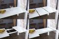 Ausziehbarer Design Esstisch X7 weiß Hochglanz 180 - 220 cm - 260 cm