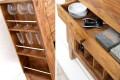 Exklusive Bar MAKASSAR Sheesham Massivholz stone finish Hausbar