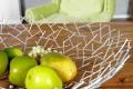 Design Obstschale STRUCTURE Gitter silber pulverbeschichtet