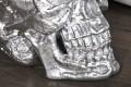 Riesiger Totenkopf SKULL hochglanz silber 40cm Schädel