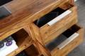 Massives Design TV-Board PURE Sheesham stone finish 135cm Schubladen Tisch einzigartige Maserung