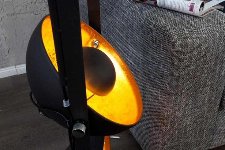 design stehlampe studio 3 lampenschirme schwarz blattgold. Black Bedroom Furniture Sets. Home Design Ideas