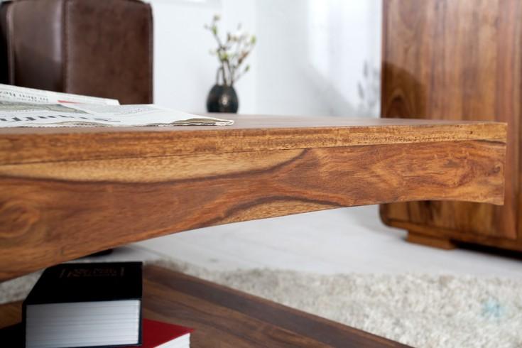 Edler Couchtisch Cube 120cm Sheesham Palisander Holz Stone Finish